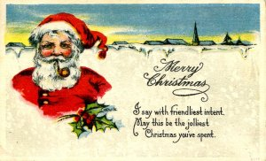 Greeting - Christmas, Santa Claus, Red Suit