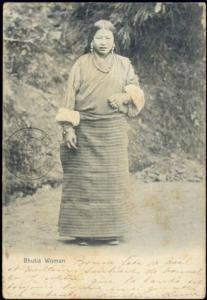 bhutan, Bhutia Native Woman, Necklace Jewelry (1899) Stamp