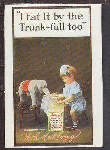 Kellogg's Trade Card Reproduction Postcard BIN