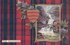 Barwick Falls , Scotland , 1900-10s ; DRUMMOND Tartan : TUCK 9459