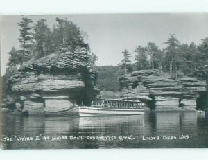 old rppc NICE VIEW Wisconsin Dells - Near Baraboo & Portage WI i8630