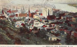 Wheeling West Virginia Birds Eye View Antique Postcard J79103