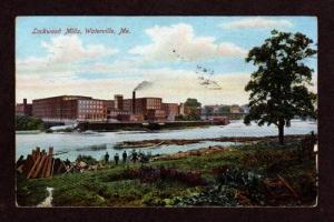 ME Lockwood Textile Mills WATERVILLE MAINE Postcard
