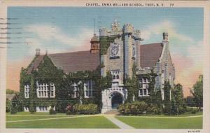 New York Troy Emma Willard School Chapel 1950 Curteich