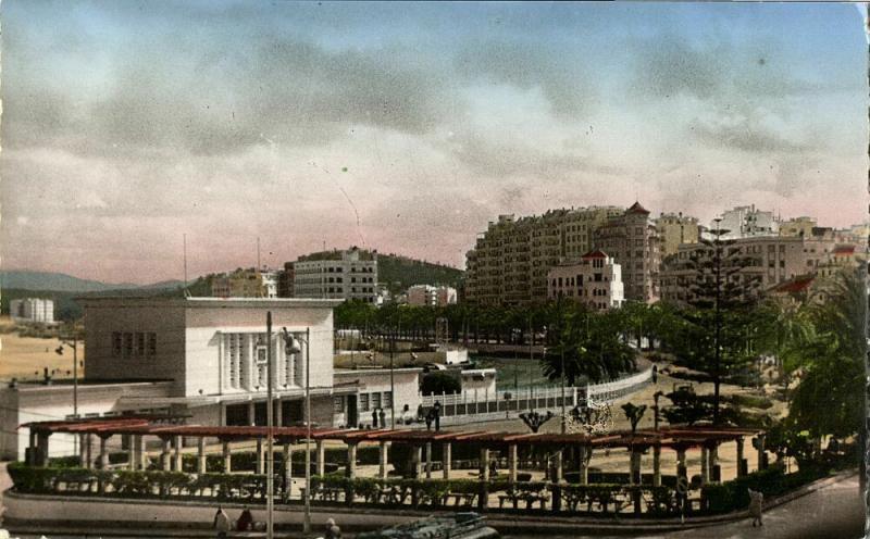 morocco, TANGIER TANGER, Railway Station, La Gare (1950s) Postcard