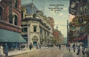 Journal building and Westminster Street,R.I. Main Steet Postcard Postcards  J...