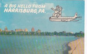 Pennsylvania Harrisburg A Big Hello Skyline View From Island Park