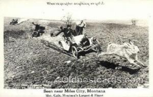 Miles City, Montana, USA Exaggeration Old Vintage Antique Postcard Post Card ...