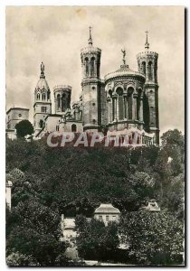 Postcard Modern Lyon apse of the Basilica of Fourviere