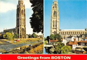 USA Greetings from Boston St Botolph's Church Eglise
