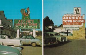 ROANOKE, Virginia, 1940-1960s; 2Views, Archie's Lobster House & Town House