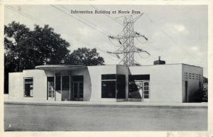 Andersonville TN Massive Power Lines Over Info Bldg @ Norris Dam~1941 Postcard