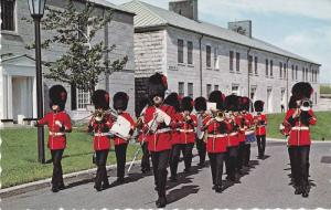 The Royal 22e Regiment band playing, Guard mounting,  La Citadelle,  Quebec, ...