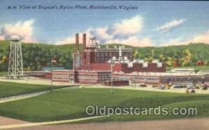 Dupont's Nylon plant, Martinsville, Virginia, Va, USA Virginia Factory Postca...