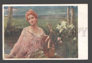 094778 BELLE FAIRY Lily w/ MANDOLIN by ZMURKO vintage PC