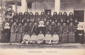 Religieuses Laociennes, Laos Native Nuns, LAOS, Asia, 1900-1910s