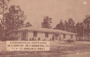 NORTH RAINBOW SPRINGS , Florida , 1930-40s ; Luddersville Cottages