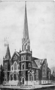 Oelwein Iowa~Sacred Heart Catholic Church~1911 Blue Sky C U Williams Postcard