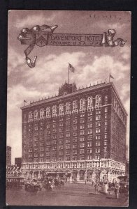 Washington SPOKANE Davenport Hotel - pm1916 - Divided Back