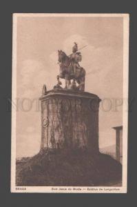 089124 PORTUGAL Braga Bom Jesus do Monte Estatua Old PC