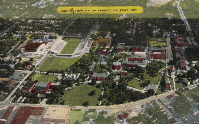 LEXINGTON , University of Kentucky, 1930-40s ; w/stadium