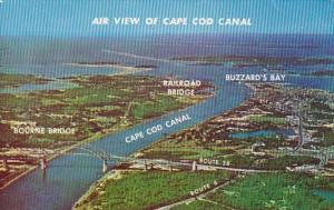 Massachusetts Cape Cod Aerial View Of Cape Cod Canal and Buzzard's Bay