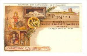 Souvenir Des Catacombes De St. Calliste, Coemeterivm St. Callisti, Via Appia ...