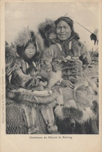Behring (ALASKA) , 1910s ; Eskimo woman & 2 kids