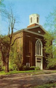 Hillsboro Ohio~First Methodist Church~Square Cupola~Stained Glass Windows~1950s