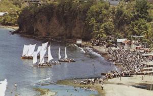 Bird´s Eye View, Fonde Lahaye, A Festival day: fishing boat race, Martinique...