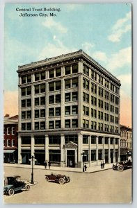 Jefferson City Missouri~Central Trust Building~Bank Corner~1917 Postcard