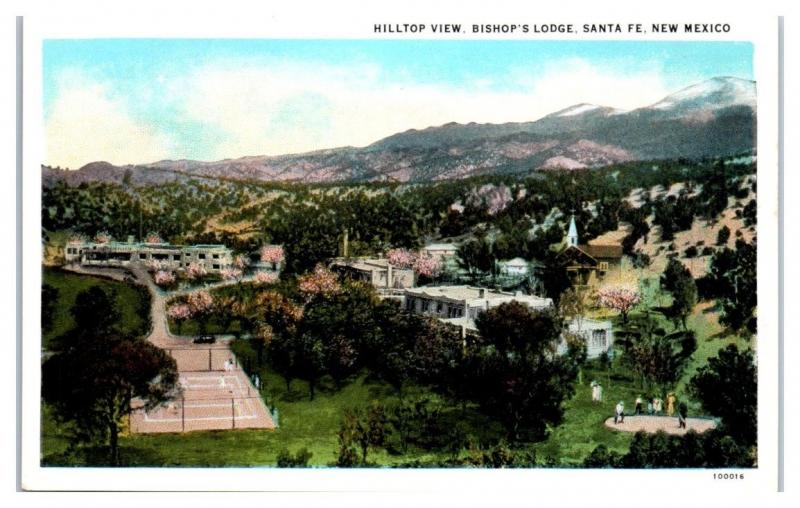 Early 1900s Hilltop View, Bishop's Lodge, Santa Fe, NM Postcard