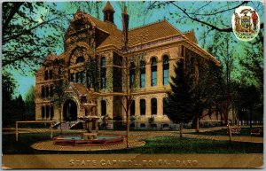 1910s Boise, Idaho Embossed Postcard Old State Capitol Building View - UNUSED