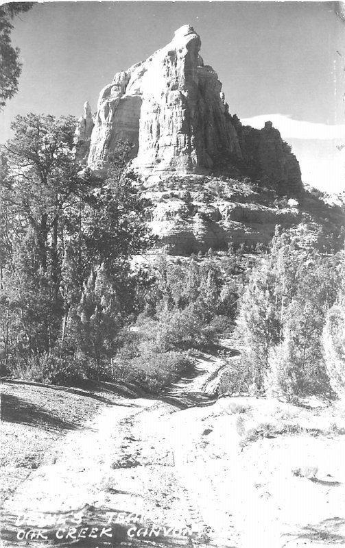 Arizona Devil's Teapot Oak Creek Canyon RPPC Photo Postcard 279