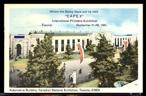 Canadian National Exposition Toronto 1951 CAPEX Philatelic Expo FDC Sc. #314