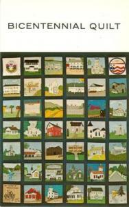 Bicentennial Quilt unused chrome Postcard
