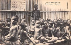 Republic Congo Francais, Ecole primaire a Brazzaville, Children Enfants School