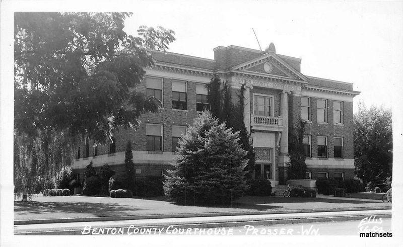 1940s Benton County Courthouse PROSSER WASHINGTON RPPC