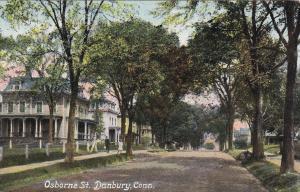 DANBURY, Connecticut, PU-1910; Osborne Street, Homes