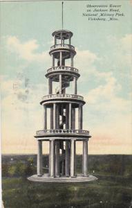 Observation Tower on Jackson Road National Military Park Vicksburg Mississipp...