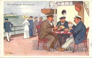 Gambling Postcard Postcards Unused