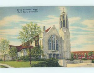 Unused Linen CHURCH SCENE Boys Town Nebraska NE L4818