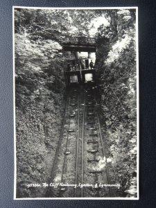 Devon LYNTON & LYNMOUTH The Cliff Railway - Old RP Postcard by E.A.S. & S.