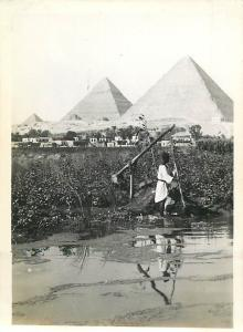 Real photo Egypt pyramids of Gizeh