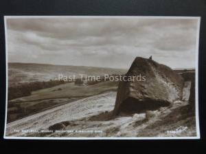 Yorkshire ILKLEY The Calf Rock WHARFE VALLEY - Old RP Postcard by W. Scott K400