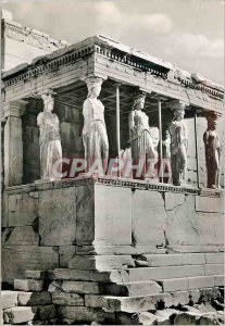 Modern Postcard of Athens Erechtheum The Coryatides