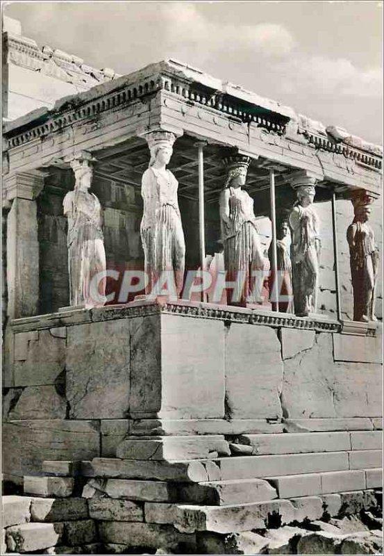Modern Postcard of Athens Erechtheum The Coryatides