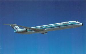 Republic Airlines DC-9 80, Postcard, Unused