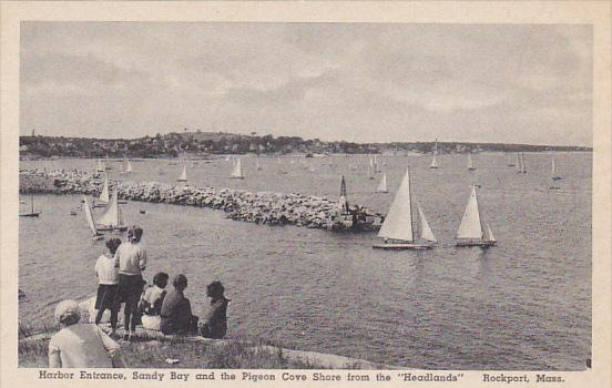Harbor Entrance Sandy Bay and Pigeon Cove Shore Rockport Massachusetts Albertype