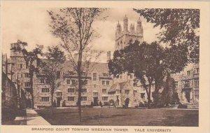 Connecticut New Haven Branford Court Toward Wrexham Tower Yale University Alb...